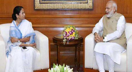 PM મોદીને મળ્યા મમતા, કહ્યું-વિકાસ મુદ્દે થઇ વાતચીત
