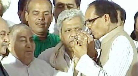 27 કલાક પછી CM શિવરાજસિંહ ચૌહાણે તોડ્યો ઉપવાસ