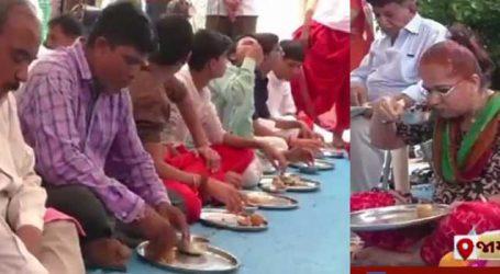 VIDEO: જામનગરમાં યોજાઇ લાડુ સ્પર્ધા, વિજેતાઓ આટલા બધા ઝાપટી ગયા લાડુ!