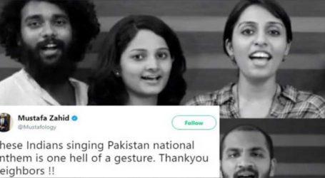 ભારતીય બેન્ડે કર્યું પાકિસ્તાની રાષ્ટ્ર ગાનનું પ્લેબેકઃ પાકિસ્તાની નાગરિકો થયા ખુશખુશાલ