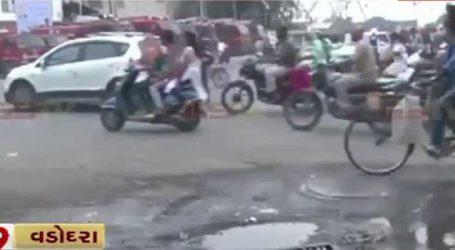 અમદાવાદ-વડોદરા બન્યું ખાડાવાદ : ઠેર-ઠેર રસ્તાઓ પર ખાડાઓથી નાગરિકો પરેશાન