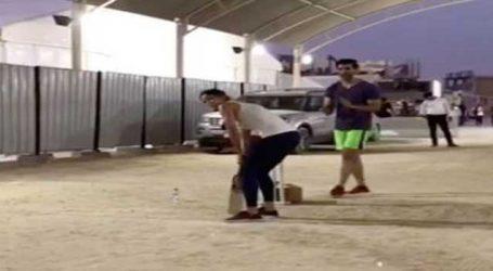 """VIDEO: """"ટાઇગર જિંદા હૈ"""" ના સેટ પર ક્રિકેટ રમતા જોવા મળી કૈટરીના"""