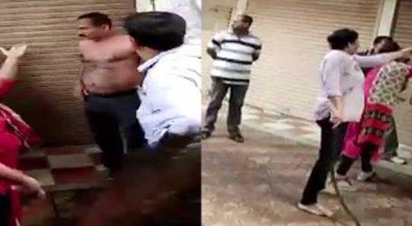 રાજકોટમાં મહિલાએ પુરૂષની જાહેરમાં કરી ધોલાઇ!, વીડિયો વાઇરલ થયો