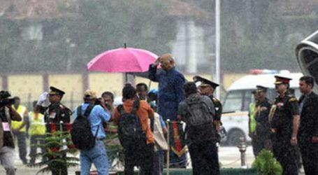 વરસાદમાં છત્રી વિના રાષ્ટ્રગીત વખતે ઉભા રહ્યા રાષ્ટ્રપતિ કોવિંદ