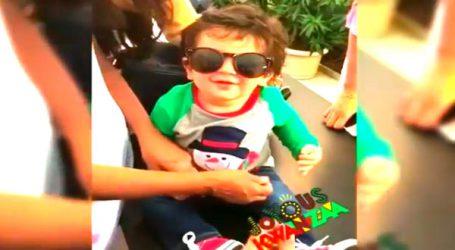 Viral Video : સનગ્લાસ પહેરીને તૈમૂરે દેખાડ્યો પોતાનો ક્યૂટ સ્વેગ