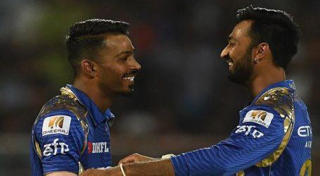 IPL:11 હાર્દિક પંડ્યા અને તેના ભાઈ કૃણાલ પંડ્યાની મુંબઈ ઇન્ડિયન્સ માટે 19.9 કરોડમાં હરાજી