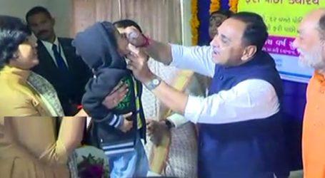 ગાંધીનગરમાં પોલીયો રસીકરણ અભિયાનનો પ્રારંભ કરાવતા મુખ્યમંત્રી
