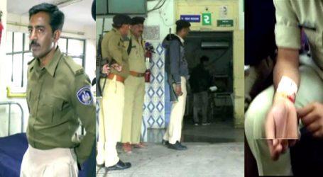 રાજકોટ નજીક પોલીસ ઉ૫ર હૂમલો : PSI ને ધારિયાનો ઘા ઝીંકી દીધો, સ્વબચાવમાં ફાયરીંગ