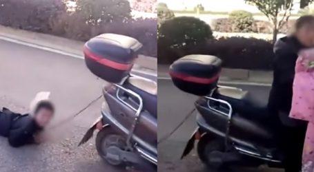 VIDEO : બાળકના તોફાનની આવી સજા, માતાએ બાળકને સ્કુટર પાછળ બાંધી ઘસેડ્યો!