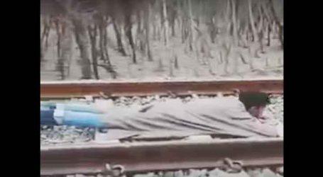 Viral Video :ઝડપભેર આવતી ટ્રેન સામે યુવકે કરી જીવલેણ હરકત