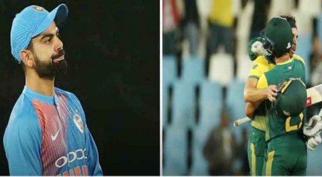 ટી-20માં ભારતીય ટીમનો કારમો પરાજય ,ડ્યુમિની-ક્લાસેને ભારતીય બોલરોને ધોયા