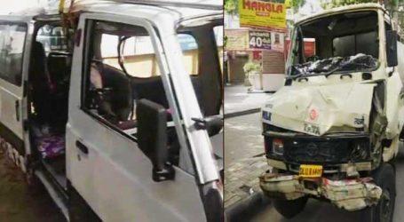 દિલ્હીના કન્હૈયાનગરમાં પણ સ્કૂલવાન અને ટેન્કર વચ્ચે અકસ્માત, 12 બાળકો ઈજાગ્રસ્ત