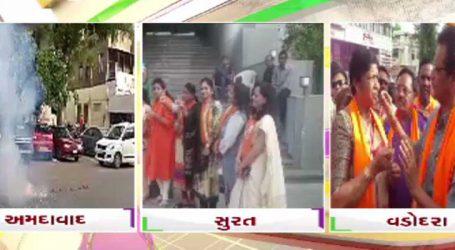 કર્ણાટકમાં સત્તાને લઇને અસમંજસ : ગુજરાતમાં ભાજપના કાર્યકરો દ્વારા ઉજવણી કરાઈ