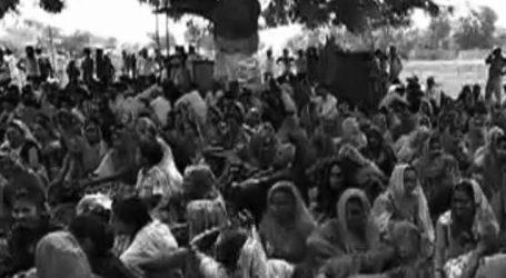 ભાવનગર : જમીન સંપાદનના વિરોધમાં એકઠા થયેલા લોકો અને પોલીસ વચ્ચે પથ્થરમારો