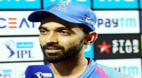 IPL 2018 : રાજસ્થાન રૉયલ્સના કેપ્ટન રહાણેને 12 લાખનો દંડ