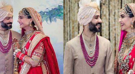 Photos : લગ્ન બાદ સોનમ-આનંદની પ્રથમ તસવીર થઇ રહી છે વાયરલ
