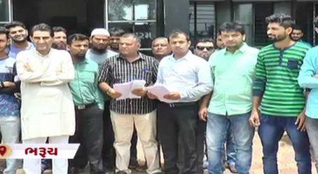 ભરૂચ: એસ.ટી.બસની ફાળવણીની માંગ મુદ્દે કોંગ્રેસના કાર્યકરોએ આવેદન આપ્યું