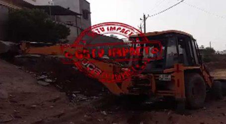 GSTV IMPACT: લડબી નદીના પટ્ટમાં ગેરકાયદે થયેલા દબાણો તોડવાની શરૂઆત