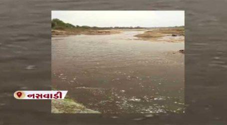 છોટાઉદેપુર: ઓરસંગ નદીમાં સીઝનના નવાનીર જોવા લોકોની ભીડ ઉમટી