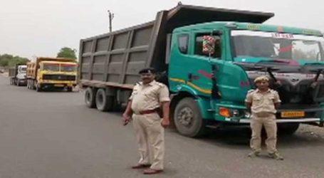 આરટીઓ વિભાગ દ્વારા છોટાઉદેપુરથી સુરત જતી 21 રેતીની ઓવરલોડ ટ્રકો ઝડપાઈ