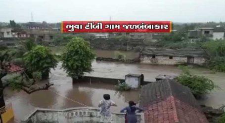 ગીર સોમનાથઃ ભારે વરસાદને કારણે નદી નાળાના પાણી હજુ રસ્તાઓ પર, ગામો બેટસમાન