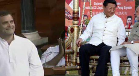 રાહુલ ગાંધીએ કહ્યું, વડાપ્રધાન મોદી અને ચીની PM ગુજરાતના નદી કિનારે ઝૂલા ઝૂલતાં હતાં અને…