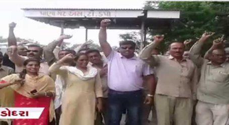 વડોદરાઃ ગુજરાત બસ સેવા STના કર્મીઓનો વિરોધ, બધુ ખાનગી થઈ જશે તો સરકાર શું કરશે ?