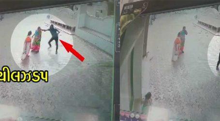 રસ્તા પર ઉભા રહીને વાતો કરવી મહીલાને પડી ભારે, જૂઓ CCTVમાં કેદ થઈ ઘટના