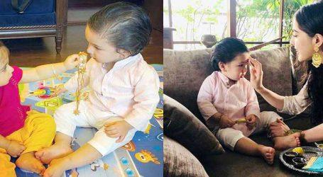 તૈમૂરે બહેનો સાથે આ અંદાજમાં કરી રક્ષાબંધનની ઉજવણી, જુઓ Cute Photos