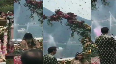 ઇશા અંબાણીની સગાઈનો જુઅો VIDEO, ઇટલીમાં ફૂલોનો થઈ રહ્યો છે વરસાદ