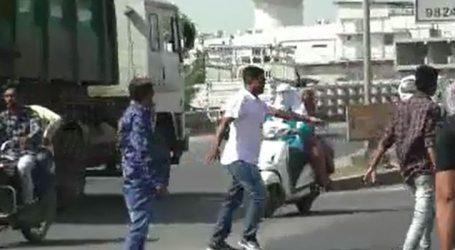 રાજકોટ : વડોદરા પીએસઆઇના આપઘાત મામલે કરણી સેનાએ કર્યો ચક્કાજામ