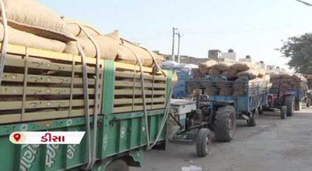 બનાસકાંઠાઃ મગફળીની ખરીદીમાં ગોકળગતિ, ખેડૂતો રાહ જોઈ પાછા ફર્યા