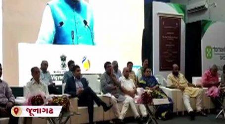 જૂનાગઢઃ નાયબ મુખ્ય પ્રધાન મંચ પર બેઠા હતા પણ ખુરશીઓ ખાલી રહી ગઈ