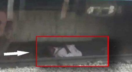 VIDEO: રેલના પાટા પસાર કરતા સમયે આવી માલગાડી અને આ શખ્સે દેખાડી હોશિયારી
