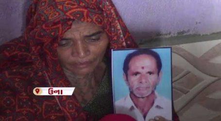 પાકિસ્તાનની જેલમાં અઢી મહિના પહેલા મૃત્યુ પામેલા નાનુભાઇનો મૃતદેહ આજે ઉનાના પહોંચ્યો
