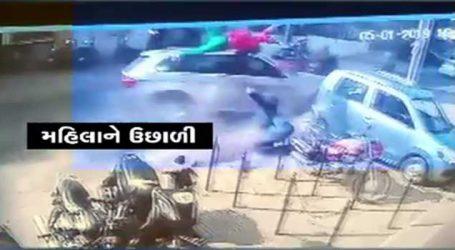 VIDEO: વડોદરામાં BMW કાર ચાલકે ભાઈ-બહેનને લીધા અડફેટે, જોઈને શ્વાસ ચડી જશે