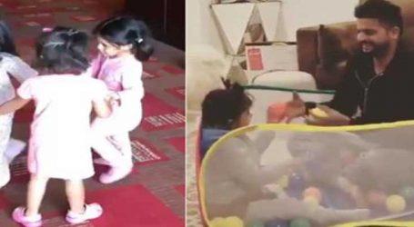 ધોની, રૈના અને ભજ્જીની દીકરીઓએ સાથે મળીને કરી મસ્તી, વીડિયો Viral