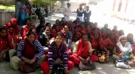 દાંતા નગરમાં આરોગ્ય વિભાગનો આઉટ સોર્સિંગ સ્ટાપ અચોક્કસ મુદતની હડતાળ પર