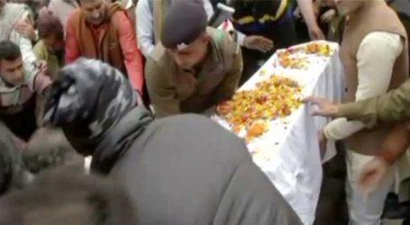 શહિદ જવાનનો પાર્થિવ દેહ ઘરે પહોંચતા જ ગુંજી ઉઠ્યો ભારત માતાનો જયજયકાર