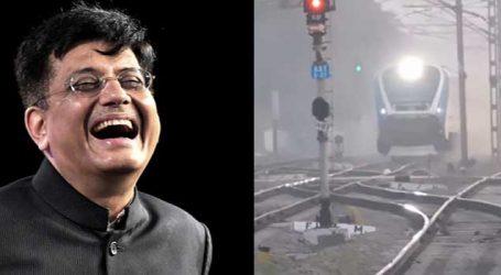 પીયુષ ગોયલે ભારતની જનતાને મામુ રમાડવા માટે ટ્રેનની સ્પીડ ડબલ કરીને video પોસ્ટ કર્યો, સાબિતી તમારી સામે