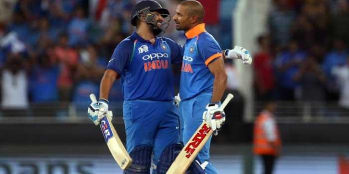 shikhar rohit partnership