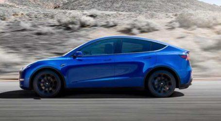 Tesla Model Y ઈલેક્ટ્રિક એસયુવી પરથી ઉઠ્યો પડદો, સિંગલ ચાર્જ પર ચાલશે 482 કિમી