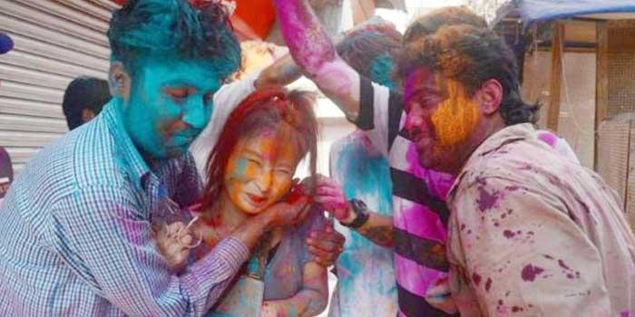 Molestation with Women in Holi