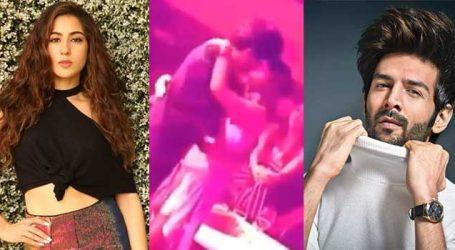 'ખુલ્લમ ખુલ્લા પ્યાર કરેંગે હમ દોનો' કાર્તિક આર્યન અને સારા અલી ખાનનો લિપલૉક Video Viral